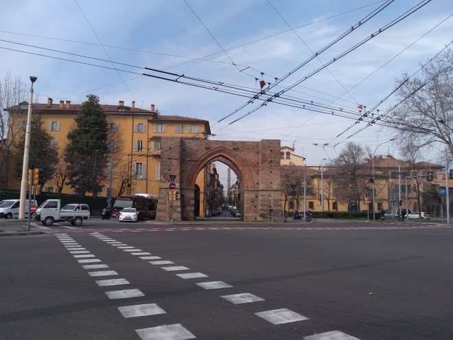Bologna muros medievais Porta maggiore