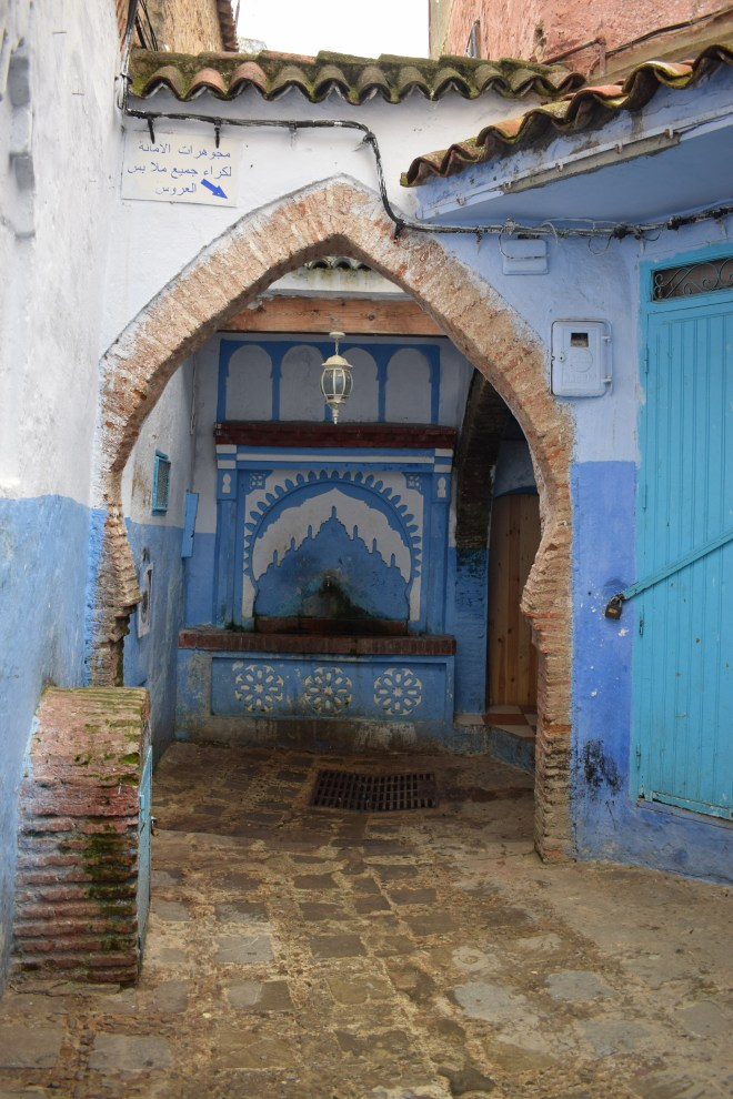 Marrocos Chefhaouen cidade azul fonte