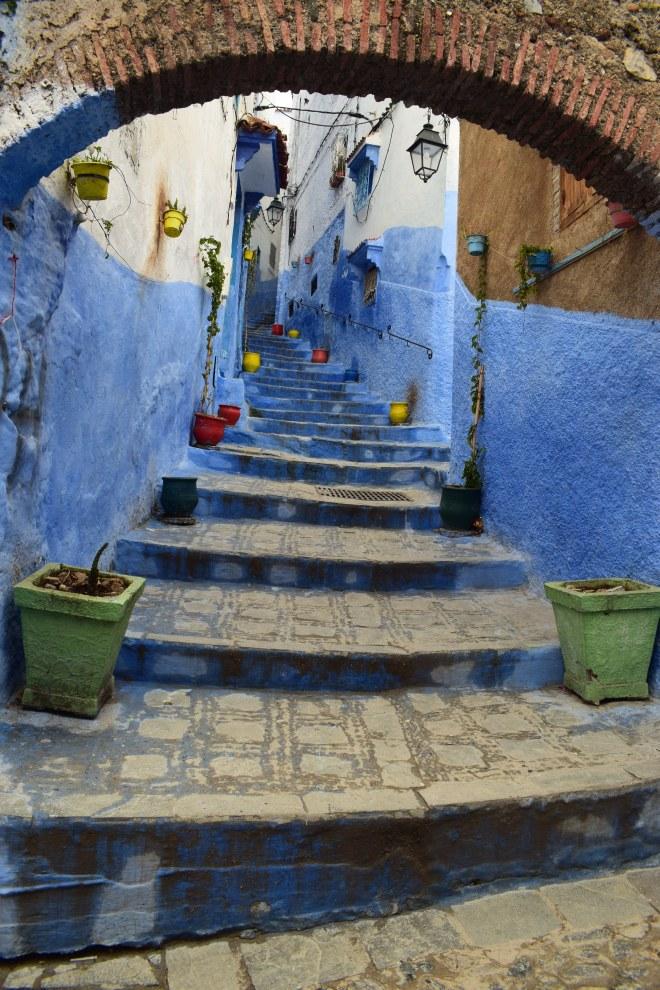 Marrocos Chefhaouen cidade azul ruas 4