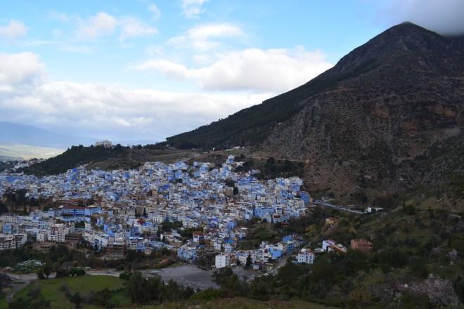 Marrocos Chefhaouen cidade azul trilha mesquita espanhola vista medina 2