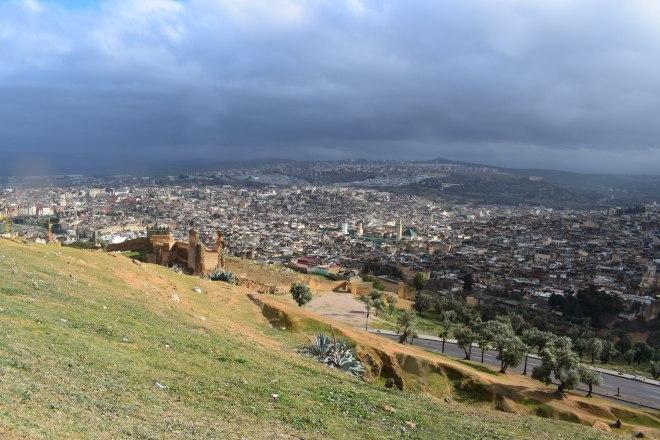 Marrocos Fez vista de cima borj nord