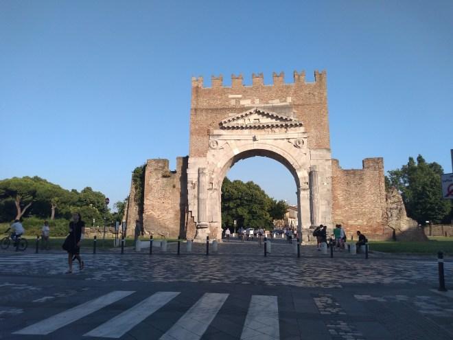 Rimini arco di augusto romano