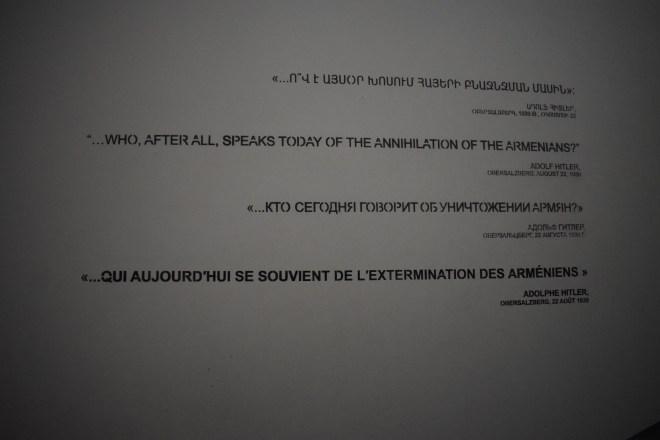 Armênia yerevan memorial genocídio citação hitler