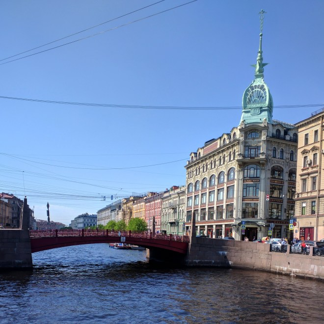 Petersburgo canais pontes vermelha 2