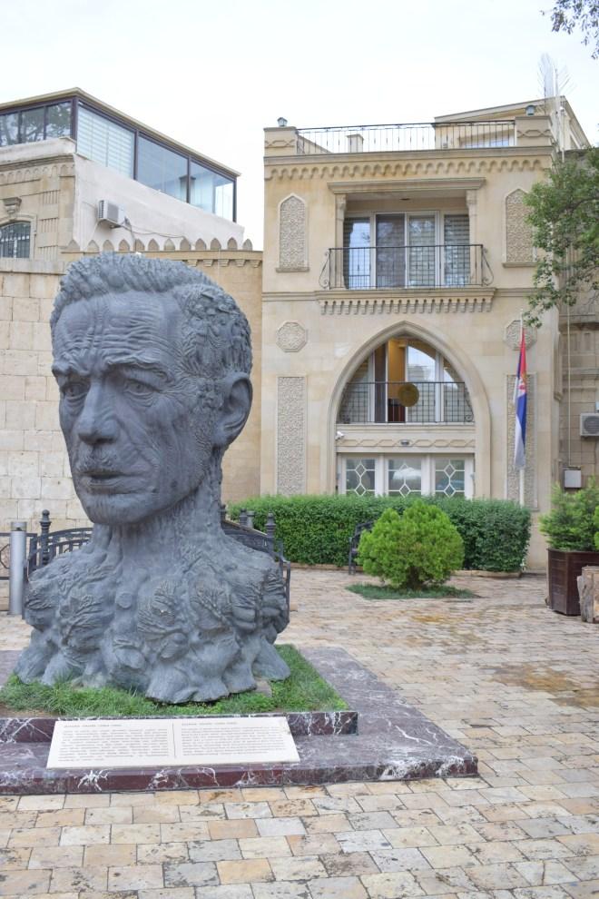Baku centro histórico praça