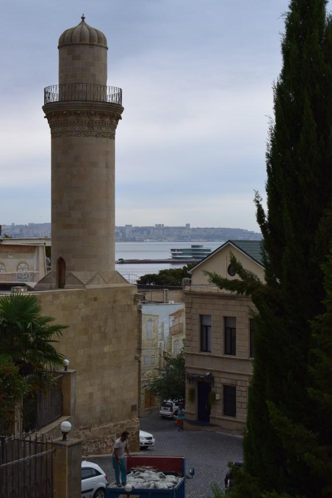 Baku centro historico mar caspio fundo