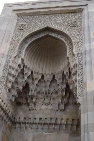 Baku palácio Shirvanshah divankhana detalhe