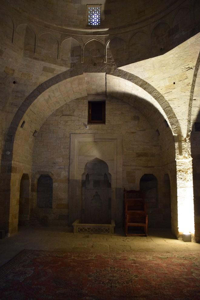 Baku palácio Shirvanshah mesquita palacio interior