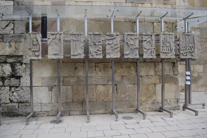 Baku palácio Shirvanshah pedras do castelo de bayil