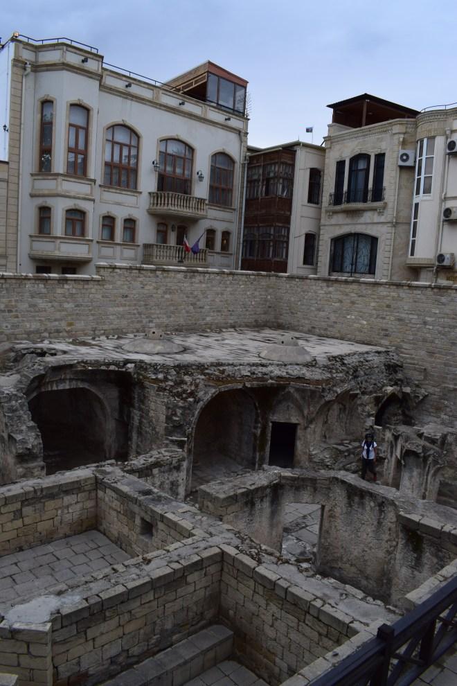 Baku palácio Shirvanshah ruínas dos hammams