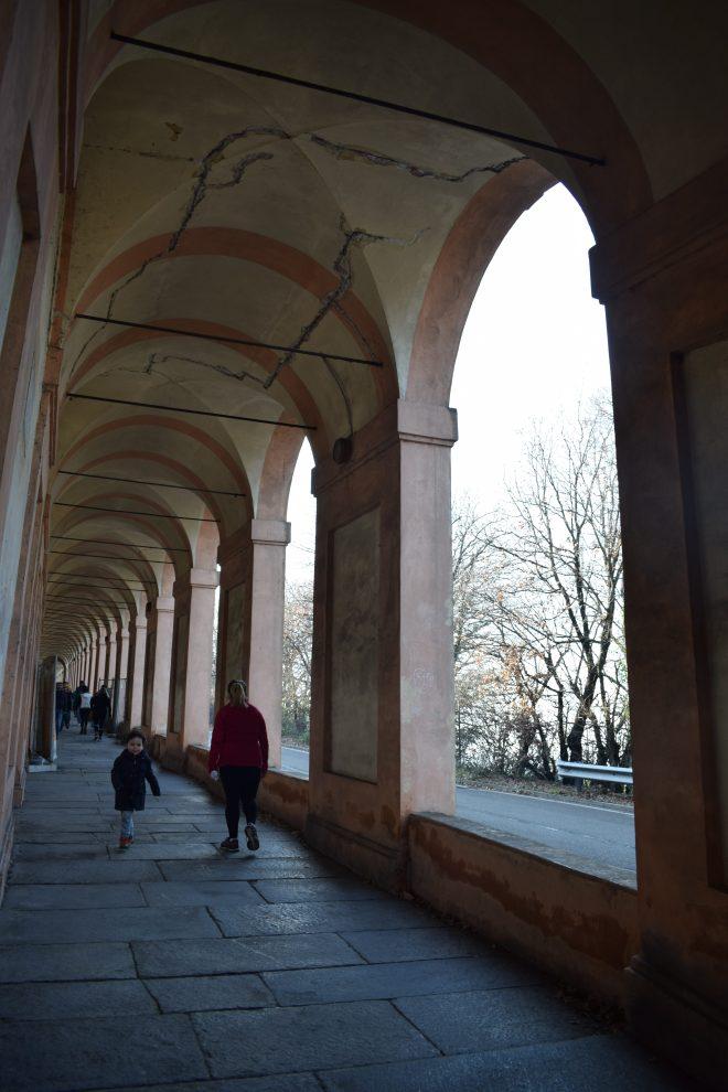 Bologna estrada porticos igreja san luca 4