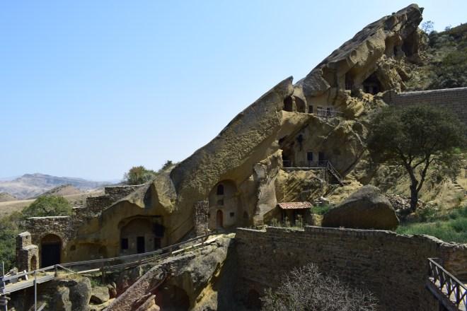 Davit Gareja georgia vista para as cavernas