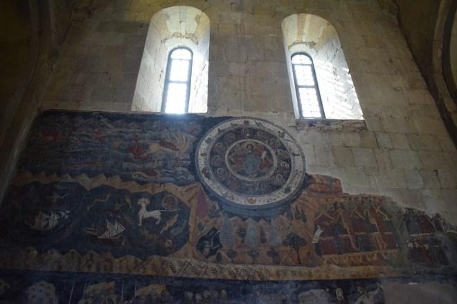 Georgia Mtskheta catedral Svetitskhoveli afrescos medievais