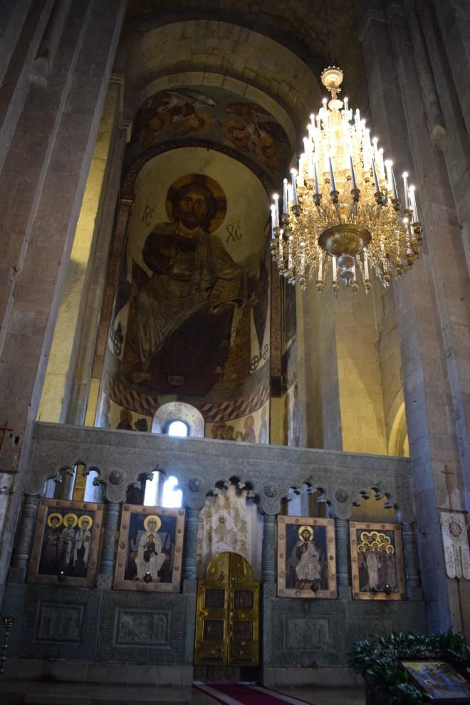 Georgia Mtskheta catedral Svetitskhoveli altar ícones
