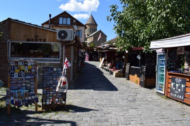 Georgia Mtskheta centro espiritual religioso catedral vista dos mercados