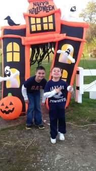 Having some fun with his friend Brandon