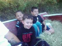 Hanging out with his friends TJ & Brandon