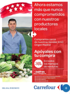 Folleto Carrefour Alimentos Madrid mayo 2020