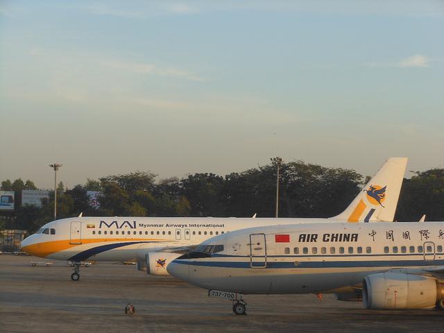 緬甸航空與中國國航班機(Michael Coghlan)