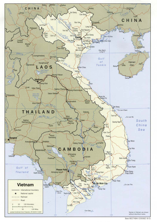6 Free Maps Of Vietnam