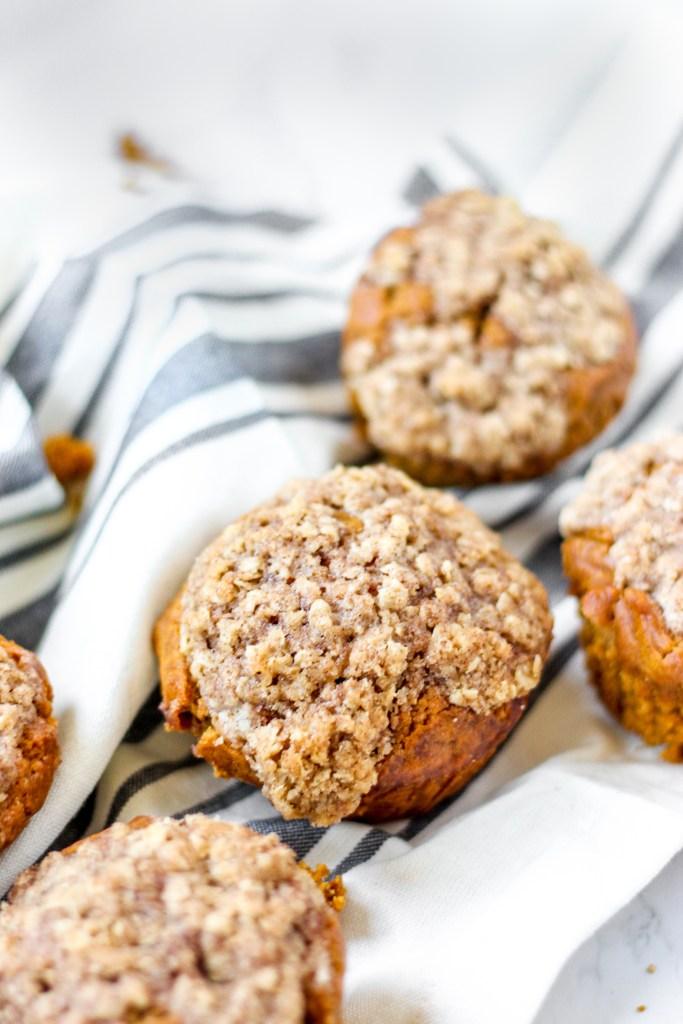 close photo of pumpkin muffin
