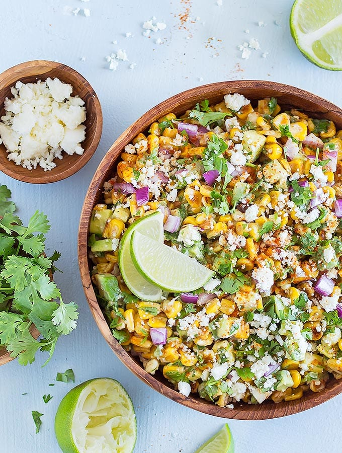 Mexican Street Corn Salad With Avocado As Easy As Apple Pie
