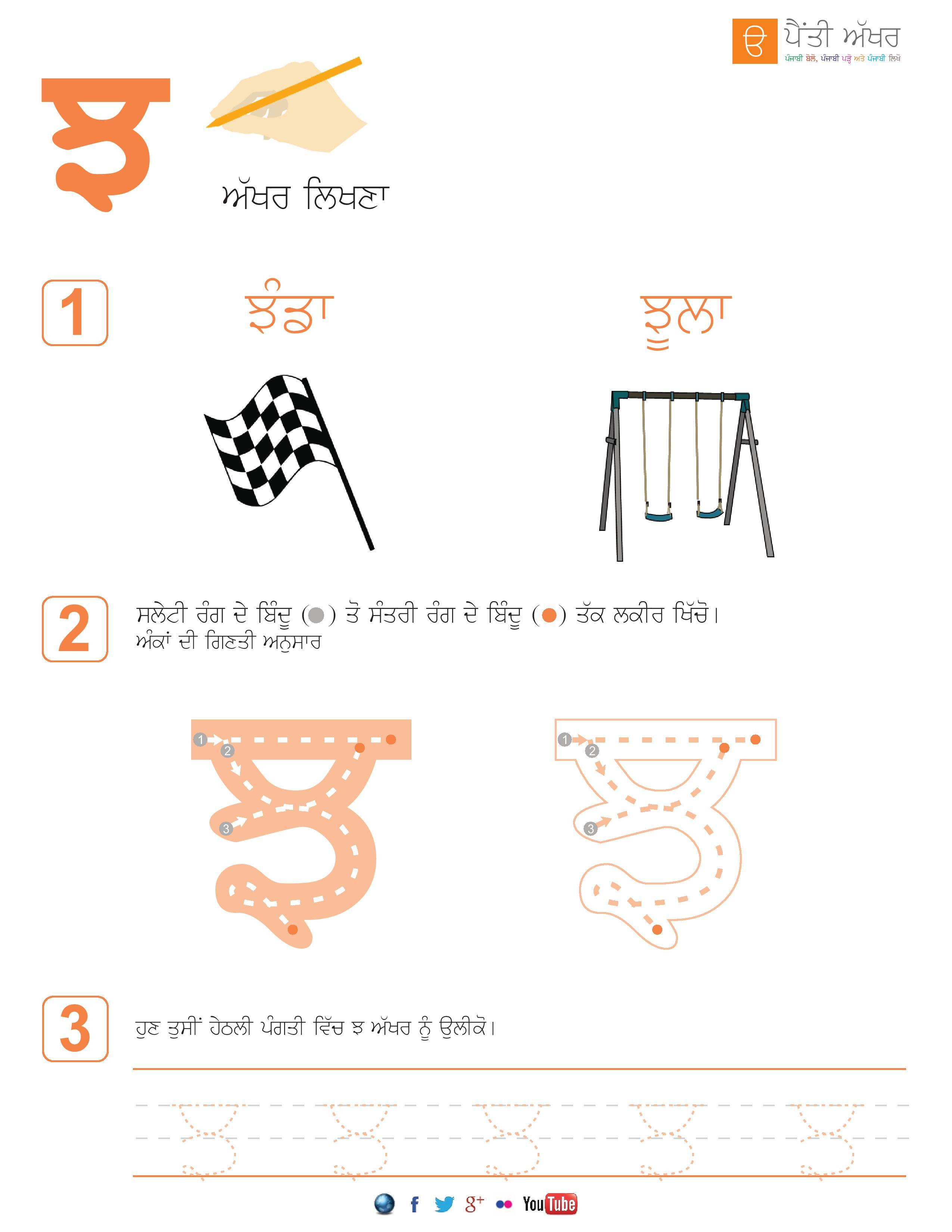 Punjabi Alphabet Worksheets