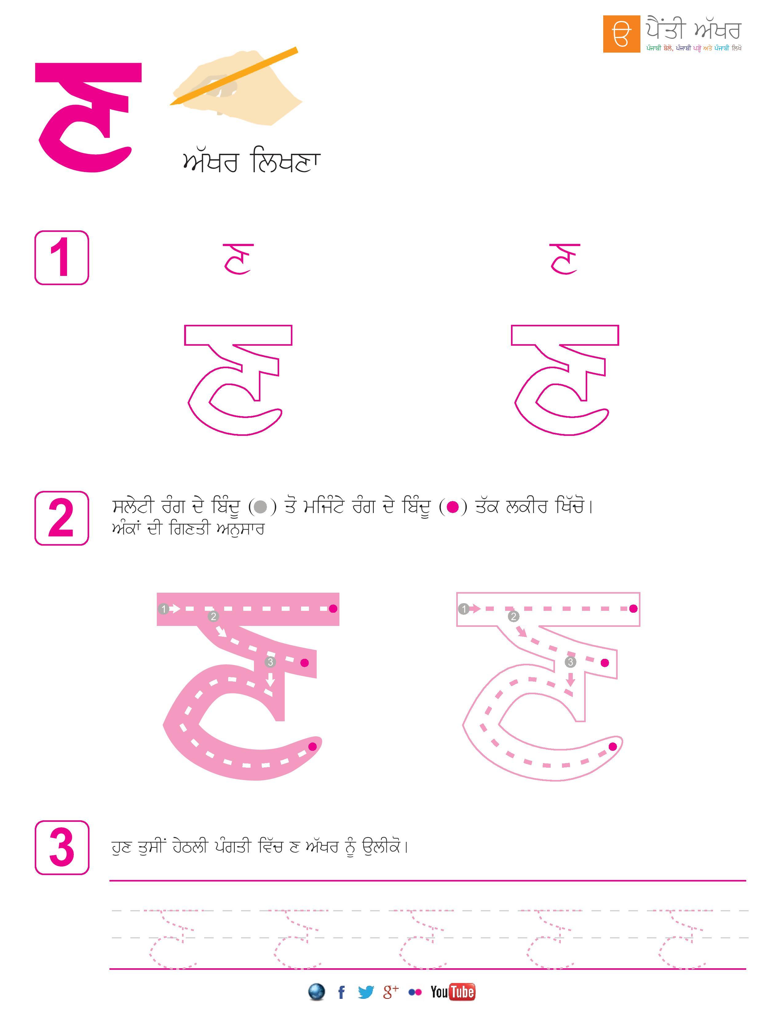 Punjabi Alphabets Worksheets Page 20 Aseen