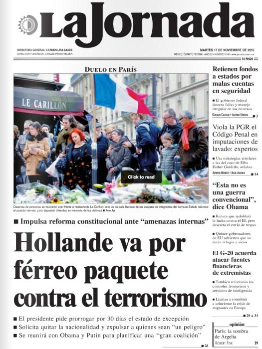 Uso justo de los medios impresos, por los interwebs. | Vía: La Jornada