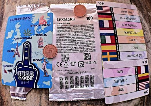 Cuss Cards @#*¡ European Edition | Jugada patrocinada por el color Amarillo… Amarillo no me pongo. Amarillo es mi color. | Uso justo de los Naipes para evaluar la repercusión de los Acuerdos Económicos (inter-oceanicos).