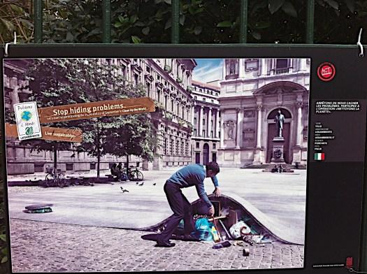 Campaña publicitaria para recibir a los dirigentes de 150 países a la COP21 en París. Cartelón capturado en la Rue du Général Blaise …París, 11avo ¡¡¡Bien Sur, Madame!!!