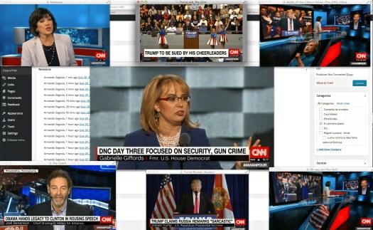"""Uso justo de las redes, las noticas, y CNN… """"Don't boo—VOTE""""… así lo dijo anoche, Barry de la O."""