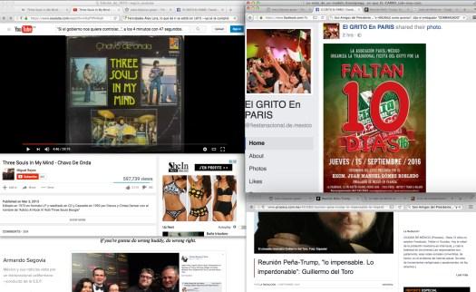 [Issy], aquello que don Álex demandaba en los años cuándo el [supremo] gobierno mexicano los perseguía a tal grado que de esa persecución dicen que nacieron Los Yoniks, Yndio y [a lo mejor] hasta Los Caminantes.