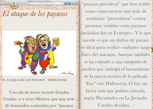 Fair use of The Guardian newspaper en Español… y de Hernández en La Jornada. | This is MonoAureo update.