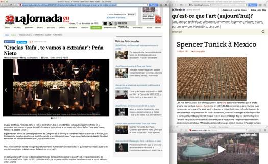 "News Bulletin follows… Licenciado Alfredo Castillo à escena. Licenciado Alfredo Castillo a escena [must be read in a ""news bulletin"" speaker tone]"