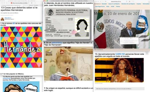 """Las cuentas claras, con el resto de la historia... según uno de tres comentarios en la misma nota de las """"13 cosas que deberías"""" saber de Beyoncé, un usuario de BuzzFeed apunta los siguiente: O sea en México hay 7 millones de HERNANDEZ pero en todo el mundo hay 5 millones y fracción , o sea como ?."""