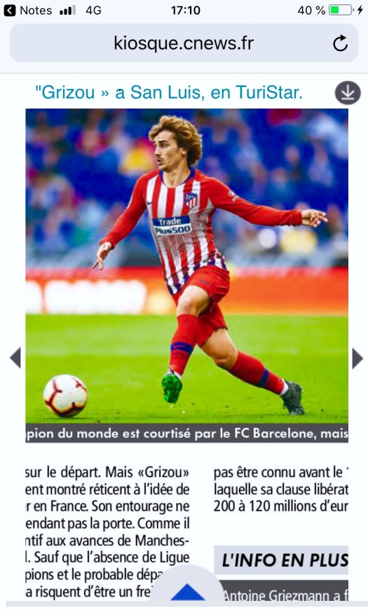 and Starring As Antoine Griezmann