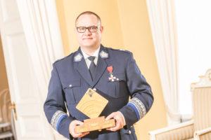 Markku Savolainen sai kesäkuussa Hätäkeskuslaitoksen PRO 112 -henkilö -palkinnon.