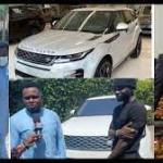WATCH VIDEO: Dr Kwaku Oteng Surprises Kuami Eugene as he gifts him Brand New Range Rover Velar 2020