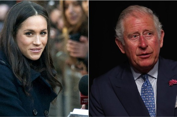 Meghan Markle L and Prince Charles R 1