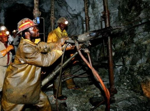 Miners at work