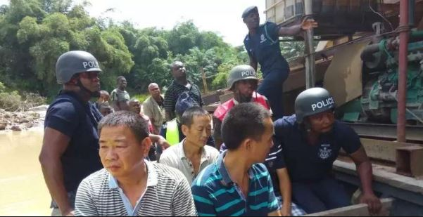 Police arrest foreigners engaged in mining