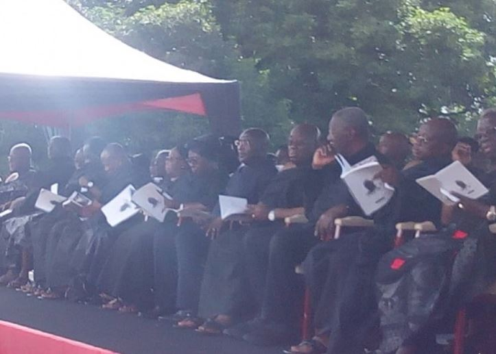 State officials at Appiah Menka funeral