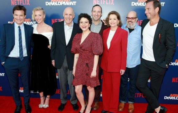 The Arrested Development cast also appeared together at the premiere of the show's fifth season