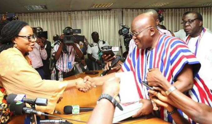 Akufo-Addo and Charlotte Osei