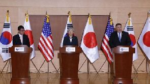 Mr Pompeo said the alliance between the US, Japan and South Korea was 'ironclad'