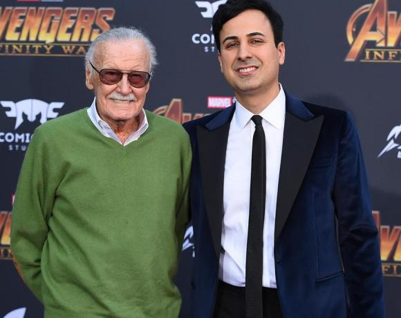 Stan Lee (left) became close to Mr Morgan (right) after his wife's death