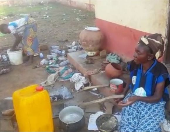 Woman who live in toilet building