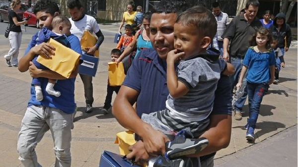 Migrant families being moved to other immigration facilities in Texas