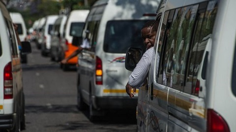 Minibus taxis are the most popular form of transport in South Africa